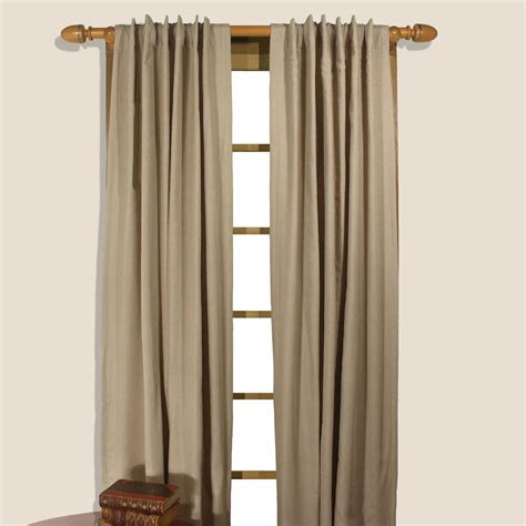 homespun curtains homespun double lined dual header curtain panel