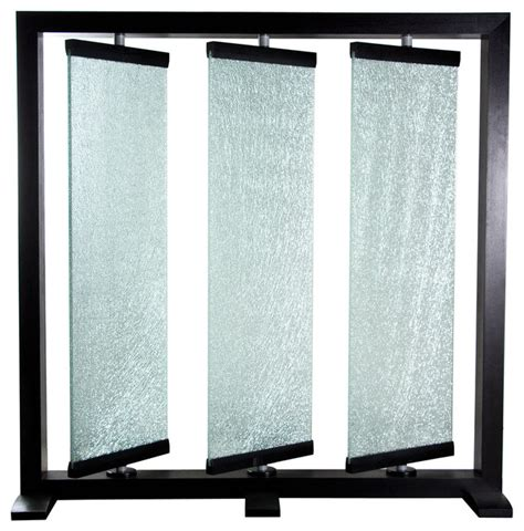 Glass Panel Room Divider Panel Crackled Glass Room Partition By Sofa Contemporary Screens And Room
