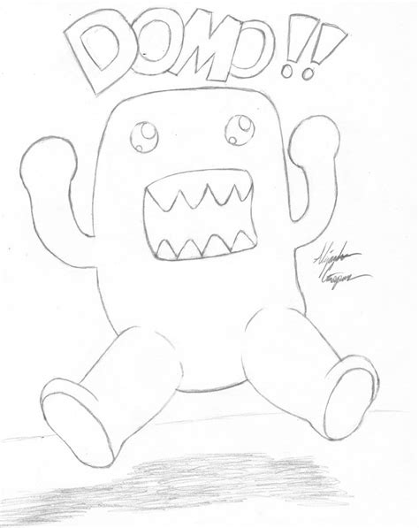 pin cute domo colouring pages on pinterest
