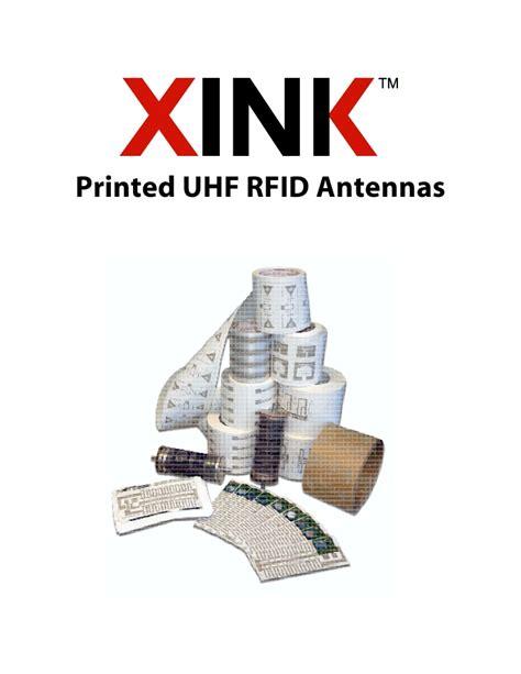 printed uhf rfid antennas