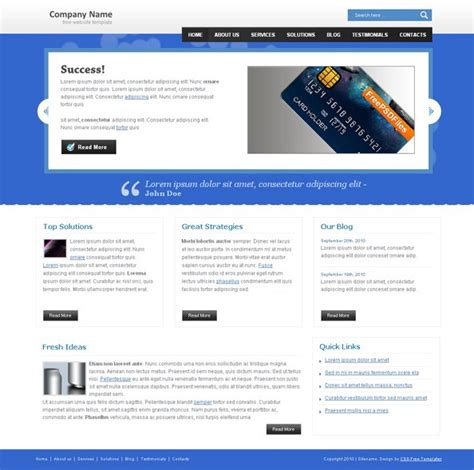 templates for website css blue website css template with bokeh effects website css
