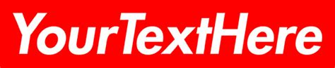 Supreme Text Box create 3 supreme box logo with your choice of text by george678490