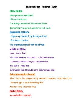 words to use in a research paper 24 best images about ela transitional words phrases on