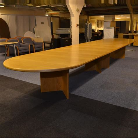 Oak Boardroom Table Oak Veneer 6000x1300 Boardroom Table