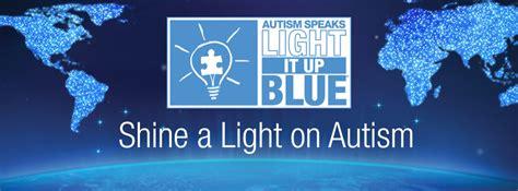 autism speaks light it up blue color support caign