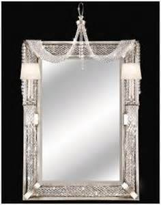 Home Interiors And Gifts Framed Art by Mirror Silver Leaf With Hand Cut Crystals Black Amp Bling