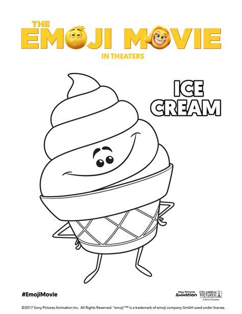 ice cream emoji movie printable emoji movie coloring pages theemojimovie
