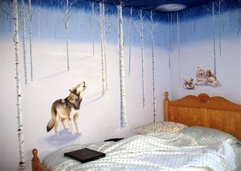 wolf themed bedroom wolf bedroom decor mural idea by themed bed on add some