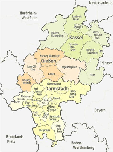 Günstig Flyer Drucken by Land Hessen Landkreise Kreisfreie St 228 Dte Karte