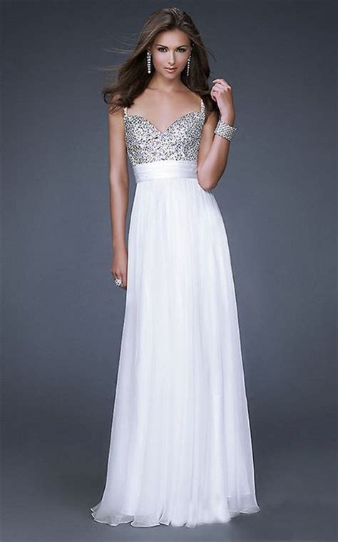 White Floor Length Dresses by White Sequin Top Floor Length Prom Dresses 2013