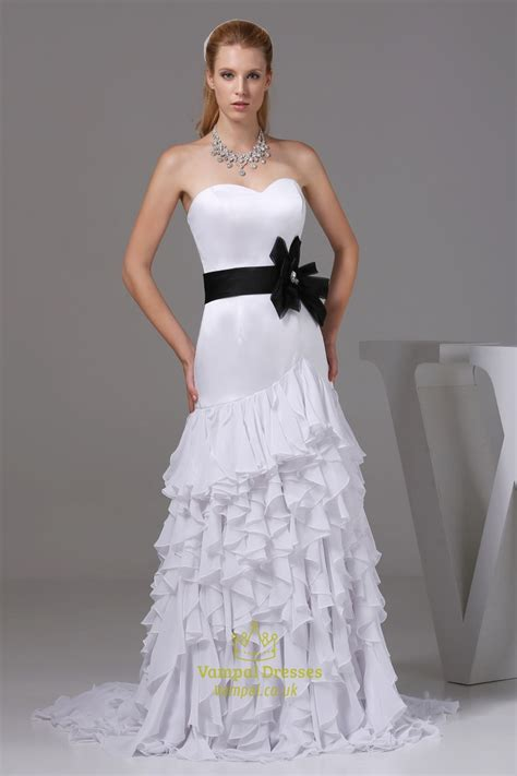 Wedding Ruffled by Ruffled Chiffon Wedding Dress White Wedding Dresses With