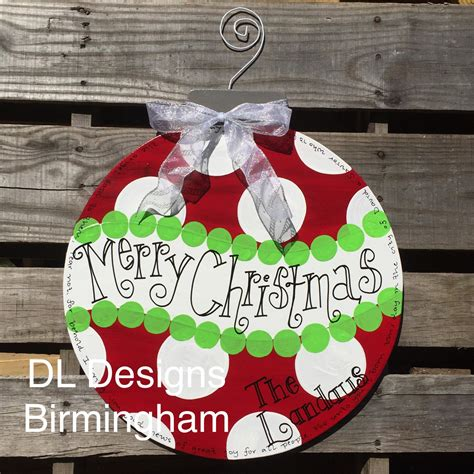 christmas ornament door hanger by dldesignsbirmingham on etsy