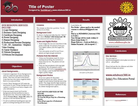 Professional A3 Templates For Project Poster Presentation Academic Poster Template Powerpoint A2