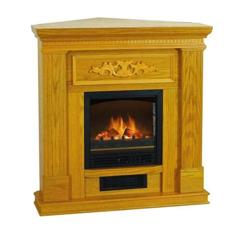 Corner Fireplace Electric Heater by Electric Fireplace Heater Oak 38 Inch Flat Corner Heater