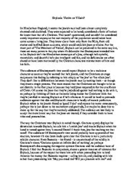 Shylock Victim Or Villain Essay Introduction by Shylock Victim Or Villain Gcse Marked By Teachers