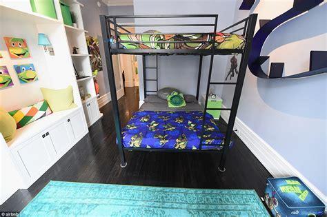 ninja turtle bunk bed airbnb offers teenage mutant ninja turtles themed lair in