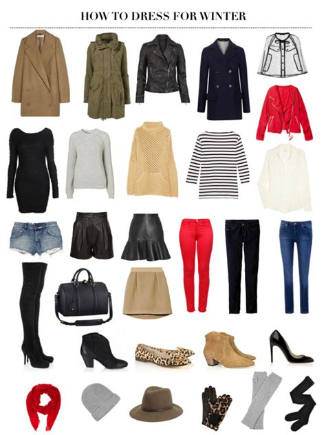 Winter Wardrobe Basics by How To Dress For Winter A Pair A Spare