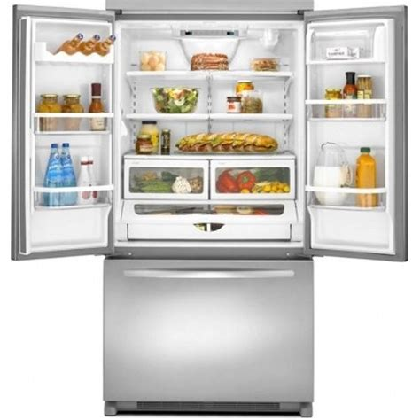 kitchenaid counter depth refrigerator with water dispenser architect ii 19 6 cu ft stainless steel counter depth