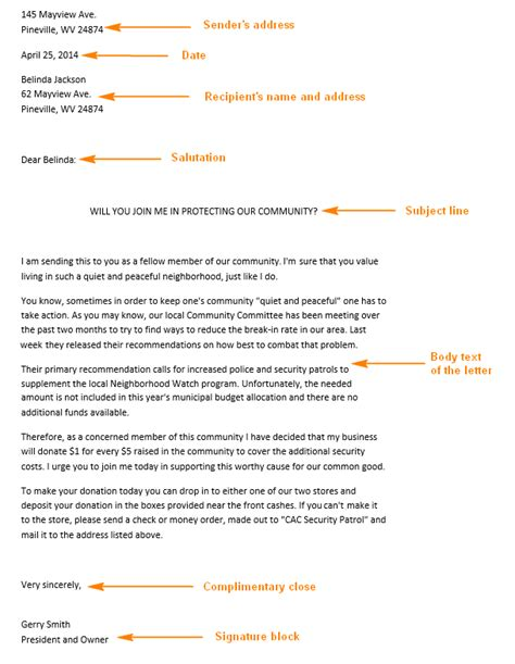 Business Letter Format Request Write Persuasive Request Letters Business Letter Format Sles And Tips