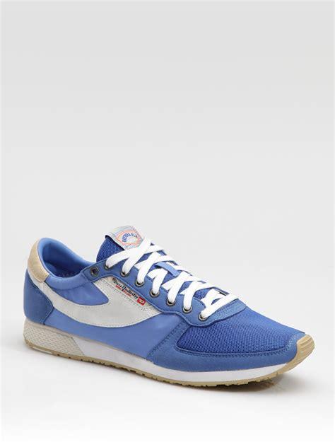 diesel sneakers diesel pass on sneakers in blue for lyst