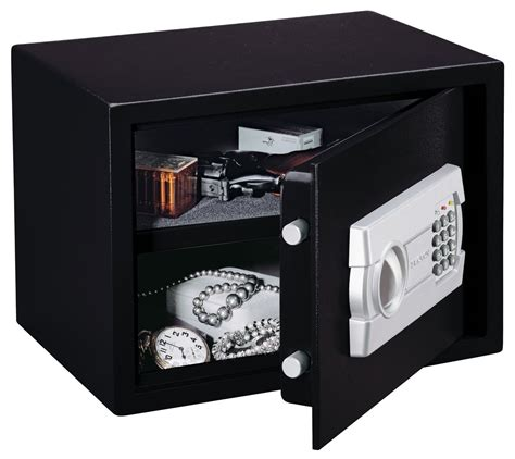 stack on personal safe with electronic lock black ps