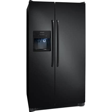frigidaire  cuft black  door side  side