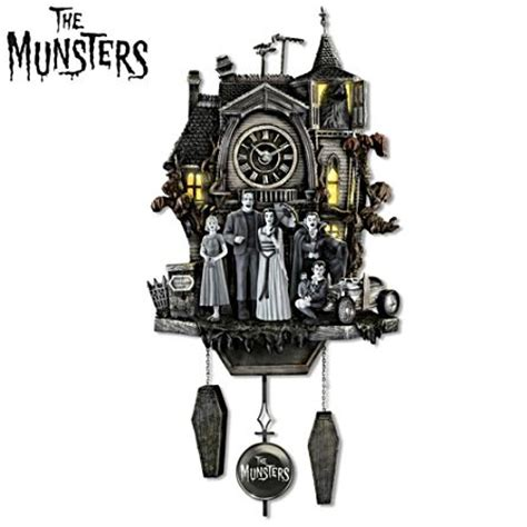 yorkie cuckoo clock officially licensed munsters 174 musical illuminated cuckoo wall clock the munsters