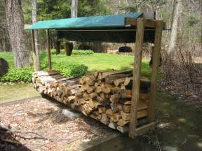 build a simple diy outdoor firewood storage shed using