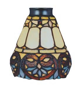 Stained Glass Shades For Ceiling Fans Scrolls Style Stained Glass Ceiling Fan Shade Ebay