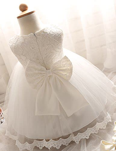 nnjxd tulle flower princess wedding dress for toddler and baby white 6 12 months