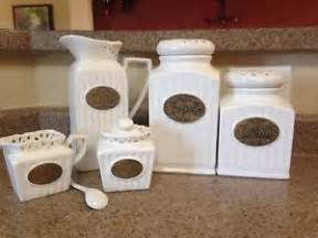 used thl ceramic 5 piece kitchen canister set ebay