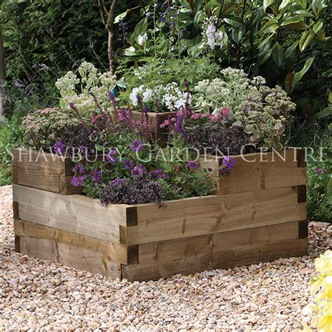 Wooden Cascade Planter by Forest Garden Compact Cascade Planter
