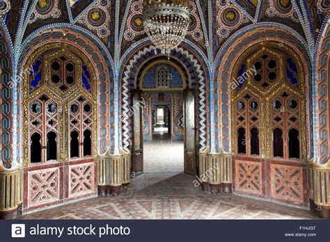 moroccan style small palace 1 moorish style palace interior architecture stock photo