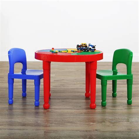 activity table tot tutors primary 2 in 1 plastic lego compatible