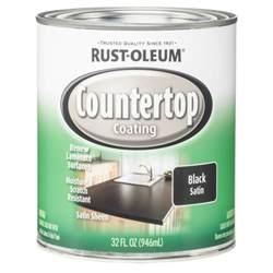 rust oleum specialty 1 qt black satin countertop interior