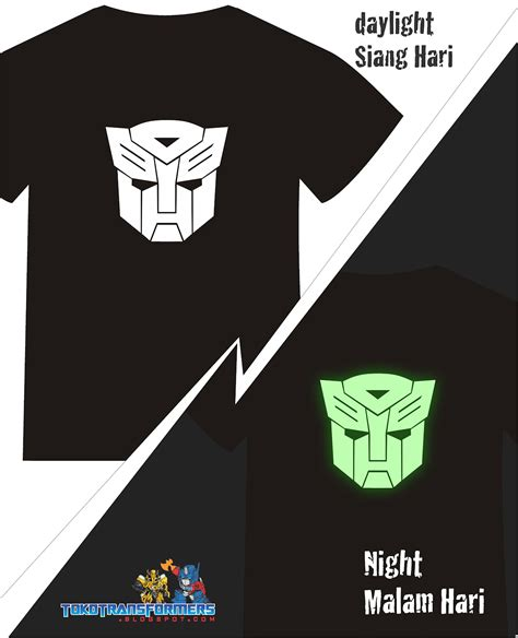 Kaos Transformers Logo 4 Nm6ym jual t shirt kaos baju transformers autobot new autobot glow in the menyala
