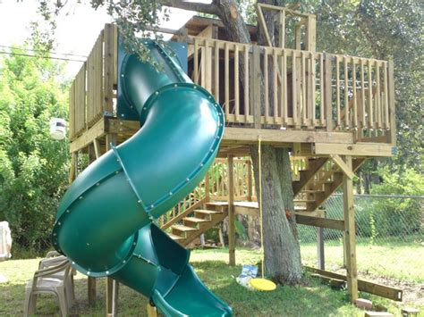 tree house slide tree house slide outdoor decor pinterest
