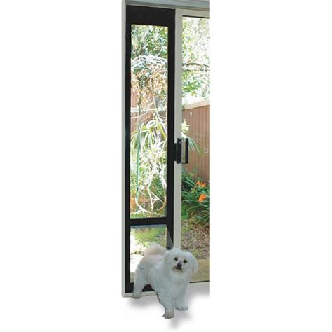Patio Link Pet Door with Patio Link Pet Door Insert For Sliding Doors