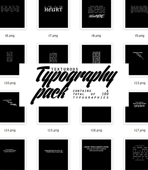 picspam template texturous typography pack by texturous on deviantart