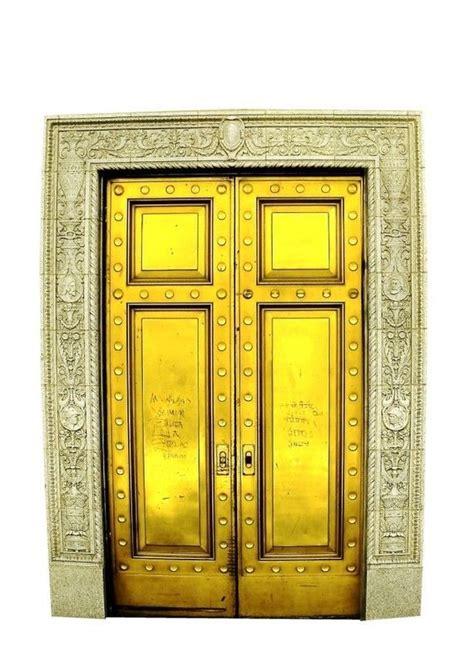 Gold S Door by Bright Gold Fae Door Vinyl Wall Decal