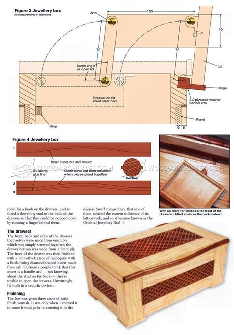 jewellery box plan woodarchivist