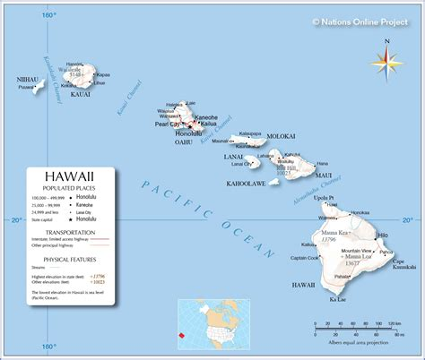 map of usa and hawaii reference maps of hawaii usa nations project