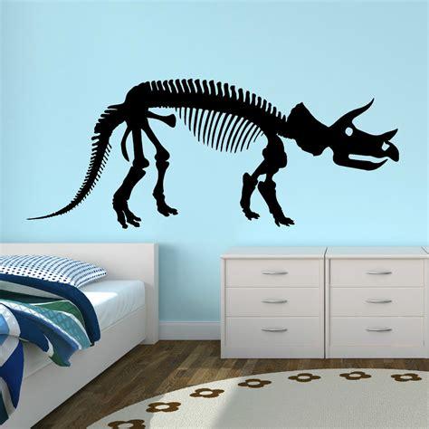 dinosaur decals for bedroom dinosaur triceratops skeleton vinyl wall art sticker decal