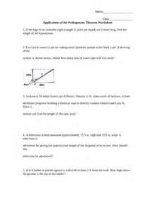 Pythagorean Theorem Word Problems Worksheet by Applications Of The Pythagorean Theorem Worksheet Word