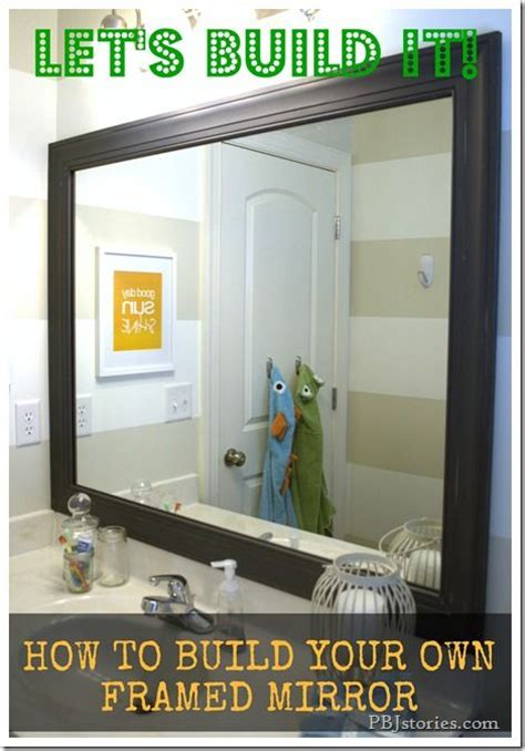 diy bathroom mirror frame with molding the happier homemaker diy to build your own mirror frame hey let s decorate