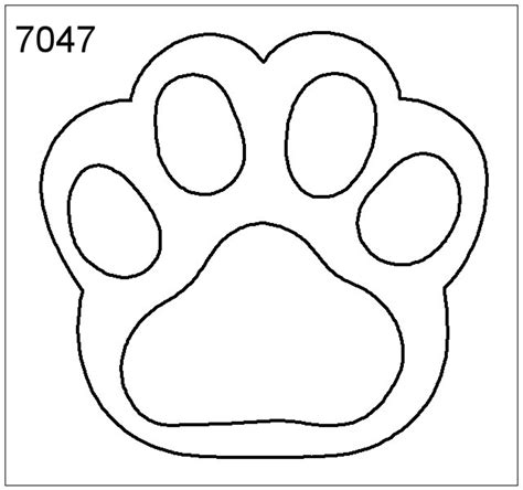 paw prints template dog breeds picture