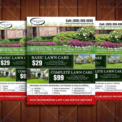 Landscaping Advertising Ideas 8 5 X 11 Landscaping Business Flyer Design By The Lawn Market Lawn Care Marketing Pinterest