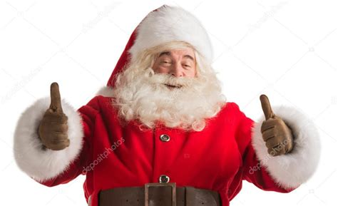 traditional santa claus thumbs up stock photo 169 hasloo