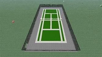 mini build tennis court minecraft project