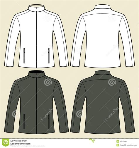 sports jacket template jacket template front and back stock image image 35457941